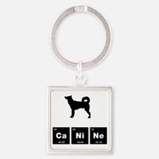 Canaan Dog Square Keychain