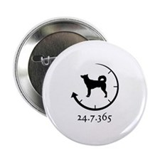 "Canaan Dog 2.25"" Button"