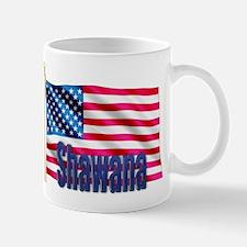 Shawana American Flag Gift Mug