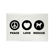 Canaan Dog Rectangle Magnet (100 pack)