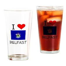 I Love Belfast Maine Drinking Glass