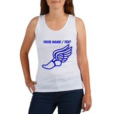 Custom Blue Winged Running Shoe Tank Top