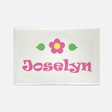 "Pink Daisy - ""Joselyn"" Rectangle Magnet"