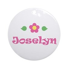 """Pink Daisy - """"Joselyn"""" Ornament (Round)"""