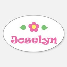 """Pink Daisy - """"Joselyn"""" Oval Decal"""