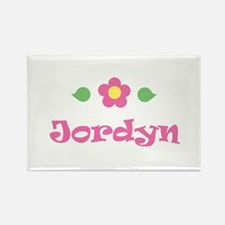 "Pink Daisy - ""Jordyn"" Rectangle Magnet"