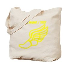 Custom Yellow Winged Running Shoe Tote Bag