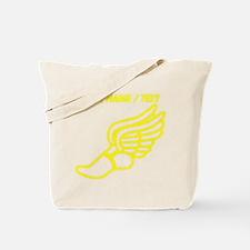Custom Yellow Winged Running Shoe Tote Bag