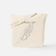 Custom Silver Winged Running Shoe Tote Bag