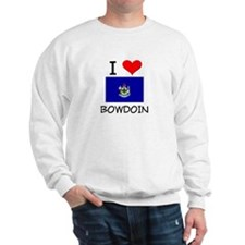I Love Bowdoin Maine Sweatshirt