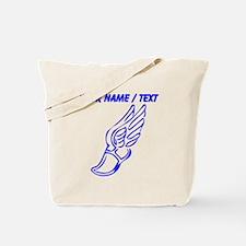 Custom Blue Winged Running Shoe Tote Bag
