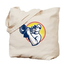 Cameraman Film Crew HD Video Camera Tote Bag