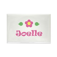 "Pink Daisy - ""Joelle"" Rectangle Magnet"