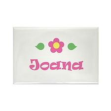 """Pink Daisy - """"Joana"""" Rectangle Magnet"""
