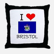 I Love Bristol Maine Throw Pillow