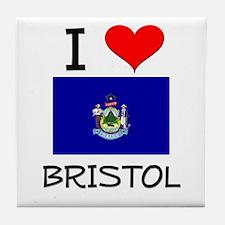 I Love Bristol Maine Tile Coaster
