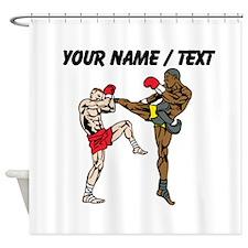 Custom Kickboxing Shower Curtain