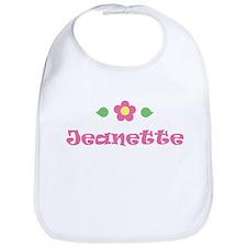 """Pink Daisy - """"Jeanette"""" Bib"""