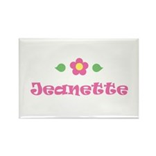 "Pink Daisy - ""Jeanette"" Rectangle Magnet"