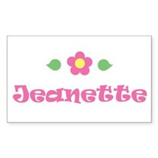 "Pink Daisy - ""Jeanette"" Rectangle Decal"
