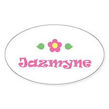 "Pink Daisy - ""Jazmyne"" Oval Decal"
