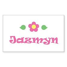 "Pink Daisy - ""Jazmyn"" Rectangle Decal"