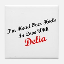 In Love with Delia Tile Coaster