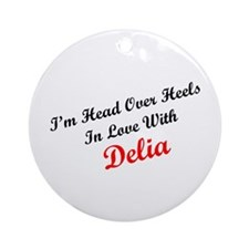In Love with Delia Ornament (Round)