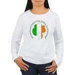 Gaelic Tricolor Shamrock Women's Long Sleeve T-Shi