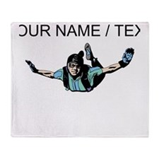 Custom Skydiver Throw Blanket