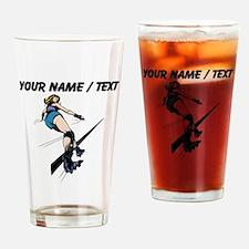 Custom Roller Derby Drinking Glass