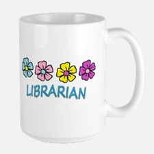 Librarian Flowers Mugs