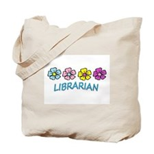 Librarian Flowers Tote Bag