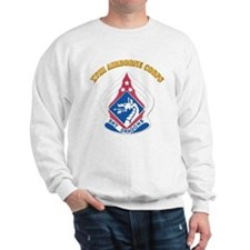 DUI - XVIII Airborne Corps with Text Sweatshirt