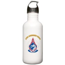 DUI - XVIII Airborne Corps with Text Water Bottle