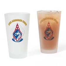 DUI - XVIII Airborne Corps with Text Drinking Glas