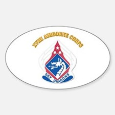 DUI - XVIII Airborne Corps with Text Decal