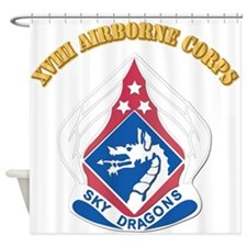 DUI - XVIII Airborne Corps with Text Shower Curtai