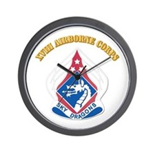 DUI - XVIII Airborne Corps with Text Wall Clock