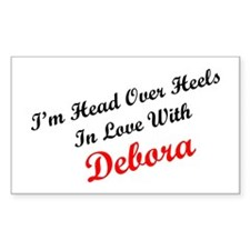 In Love with Debora Rectangle Decal