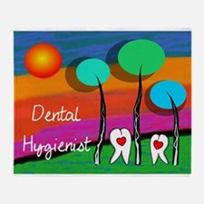 Dental Hygienist Throw Blanket