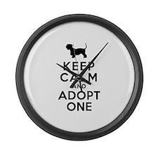 Cesky Terrier Large Wall Clock