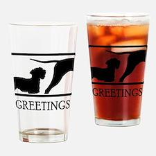 Cesky Terrier Drinking Glass
