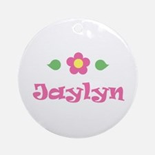 "Pink Daisy - ""Jaylyn"" Ornament (Round)"