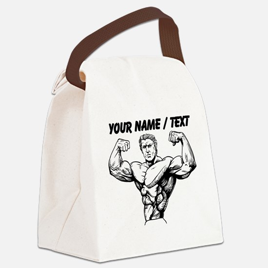 Custom Bodybuilder Canvas Lunch Bag