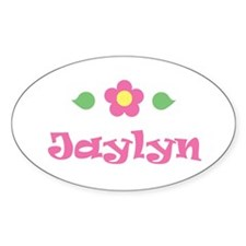 "Pink Daisy - ""Jaylyn"" Oval Decal"