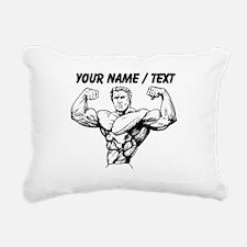 Custom Bodybuilder Rectangular Canvas Pillow