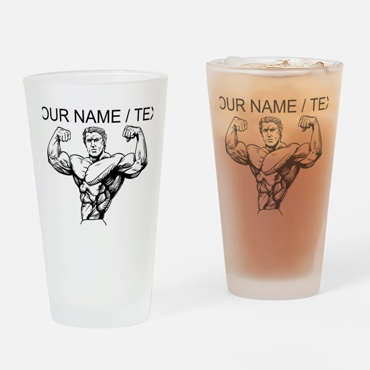 Custom Bodybuilder Drinking Glass