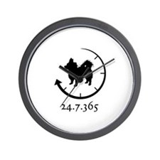 Chihuahua Longhaired Wall Clock