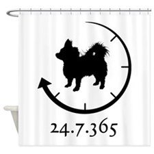 Chihuahua Longhaired Shower Curtain